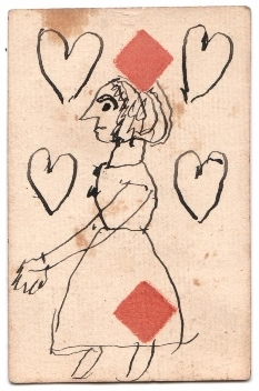 Joys and sorrows on Playing Cards