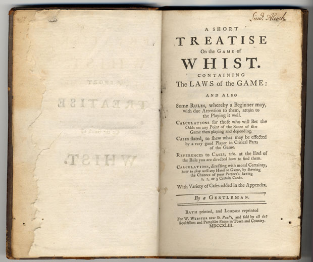 Boek 'A short treatise on the game of whist